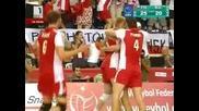 Волейбол : Полша победи България с 3:0 (25:19,  30:28,  25:20)