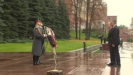 Russia: Trump's security advisor lays wreath at WWII memorial in Moscow