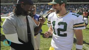 Aaron Rodgers Shows Off His Sword-Fighting Skills