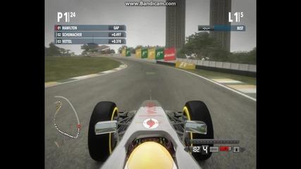 Формула1 драматично състезание в Бразилия