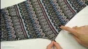 Жена показва как с едно рязане на стари клинове се превръщат в блузи