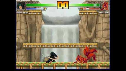 Naruto Mugen: Black Sasuke vs 4 Tails Naruto