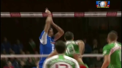Awesome moments volleyballs Italy - Bulgaria