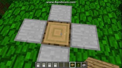 minecraft Урок-как се прави капан от врати