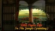 Животът на дивите тигри в джунглата ... (painting) ...