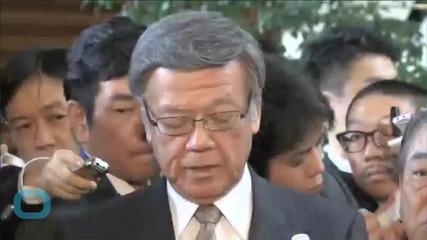 Japan's Abe, Okinawa Governor Clash Over U.S. Base Before U.S.-Japan Summit