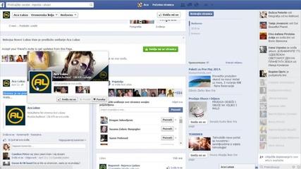 Aca Lukas - Zloupotreba Facebook stranice