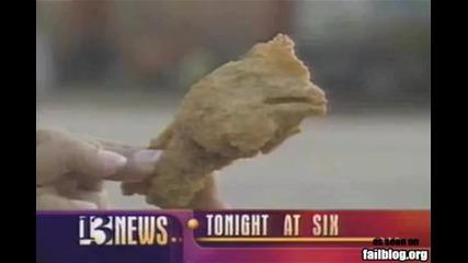 Ужасно ! Намериха крилца с форма на пилешка глава