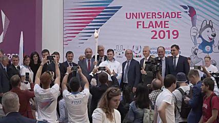 Italy: Winter Universiade-2019 flame starts its journey to Krasnoyarsk