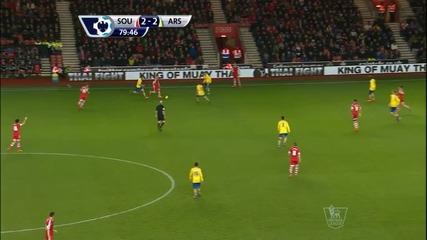 Саутхемптън - Арсенал 2:2