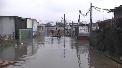 State of Palestine: Families evacuated after flood waters rise in Rafah