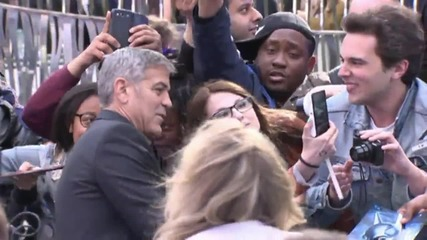 George Clooney Touches Down In London For Premiere