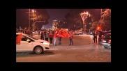 Албанска радост след прекратения мач със Сърбия