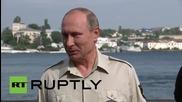 Русия: Путин посети 1000 годишни останки на Византийски кораб на дъното на Черно море