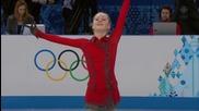 Юлия Липницкая отборна надпревара, жени, волна програма