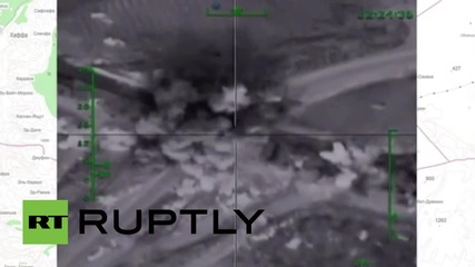 Syria: Aleppo insurgent arms depot blown apart by Russian Airstrike