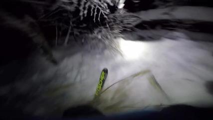 Добра идея ли е да се карат ски нощем в гората?