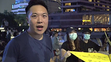 Hong Kong: Protesters lay out demands with origami cranes
