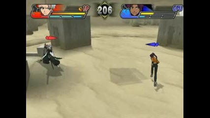 Hitsugaya vs Yoruichi Bleach Blades of Battlers 2 na Pcsx2