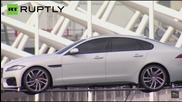 UK: Watch all-new Jaguar XF unveiled by driving on TIGHTROPE... across the river Thames!