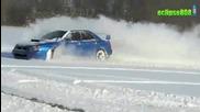 Subaro Impreza цепи снега