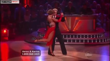 Dancing With The Stars Us - Аржентинско танго - Aron & Karina