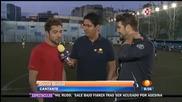David Bisbal y Antonio Orozco - Amistoso Partido de Futbol y Entrevista / Mexico 2014