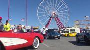 USA: Hundreds of Corvettes rev their engines along Ocean City Boardwalk