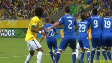 Страхотния гол на Неймар срещу Италия!