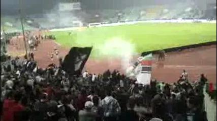Най - вярната публика в България след загубата от Цска