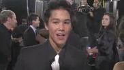 Booboo Stewart on the red carpet at Twilight Saga New Moon premiere in La
