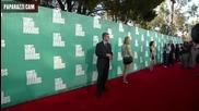 Крис на червения килим на Mtv movie awards 2012