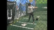 Joe and Nick Jonas in the Batting Cages!