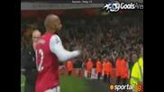 Голът на анри при повторния си дебют за Арсенал с/у Лийдс ( Еклузивно) )