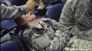Шеги със заспали войници