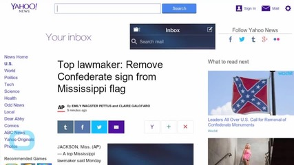 Top Lawmaker: Remove Confederate Sign From Mississippi Flag