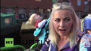 "UK: Charlotte Church talks Corbyn & Cameron's ""severed"" pig's head at Manchester rally"