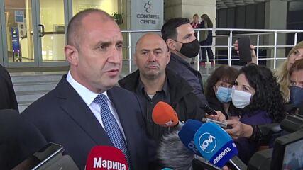 Радев: Борисов да спечели изборите и да внесе своите ценности в президентството