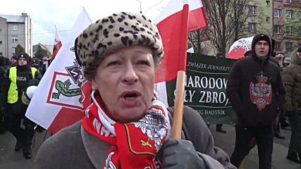 Poland: Counter-protest meets nationalist activists at Hajnowka march