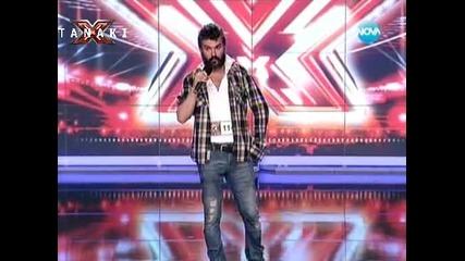 Светльо от Музикална академия Ку-ку бенд в X - factor България 16.09.11
