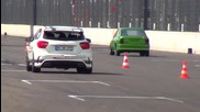 Mercedes A45 Amg vs Vw Golf Turbo vs Opel Turbo Drag Race Viertelmeile Rennen Acceleration