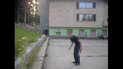 back flip 1 meter.