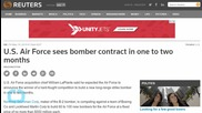 U.S. Air Force Sees Bomber Contract in One to Two Months