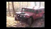 Hummer H1 Се Блъска В Дърво