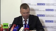Ukraine: DPR officials will investigate anti-OSCE protest, says OSCE's Hug
