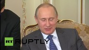 Russia: Vladimir Putin meets former Canadian PM Jean Chretien during private visit