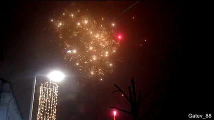 Празнична заря в Бургас по случай 6 декември