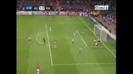 Арсенал срещу Порто 3:0 - Самир Насри страхотен гол