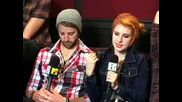 Paramore recording Brand New Eyes