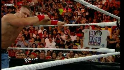 John Cena vs R-truth Tables Match